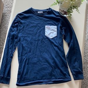 Fraternity Collection Pocket Long Sleeve T Shirt